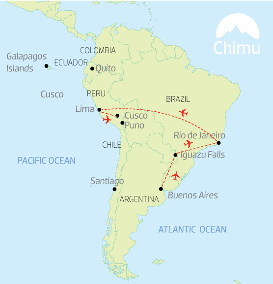 Enjoy a quick exploration of South America on this 12-day trip